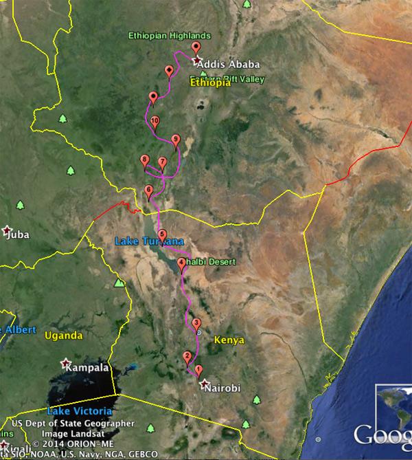 safari moto ethiopie afrique