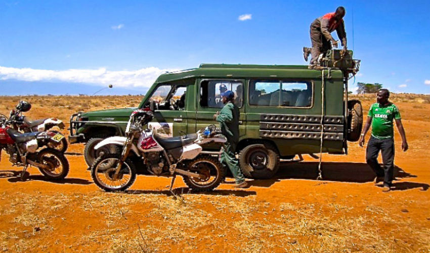 Off road dual sport motorbike tour