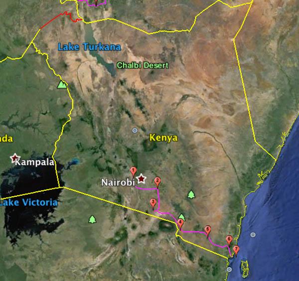Safari moto sud kenya