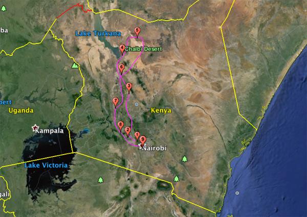 Safari Moto Nord Kenya