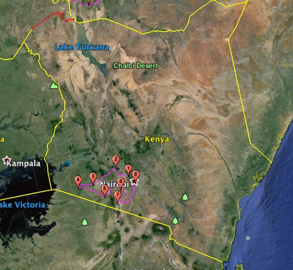 Safari moto sud ouest kenya