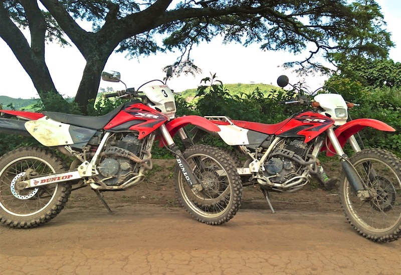 Honda_XR400_motorbike_safari - Off road dual sport motorbike safari